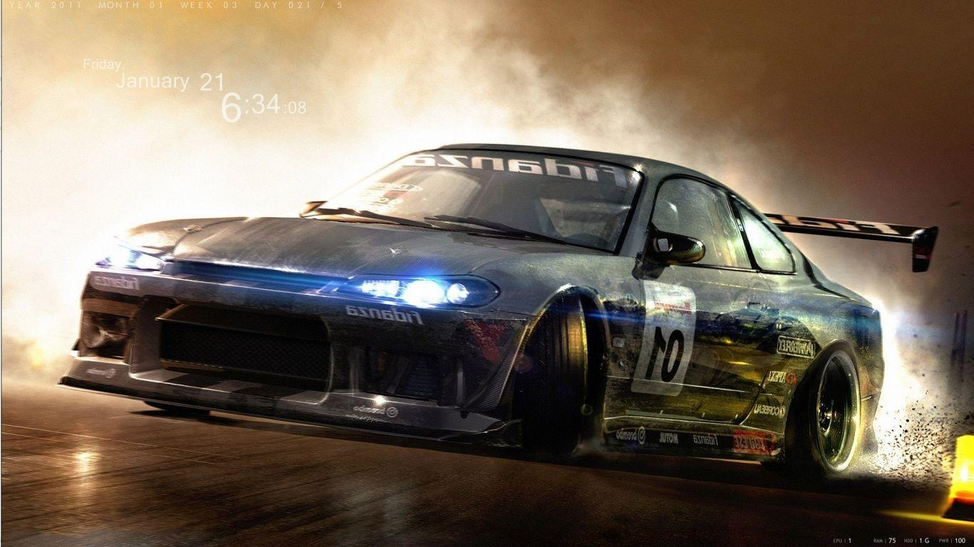 Drifting Cars Wallpapers 1366x768
