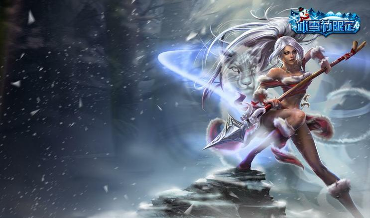 CN ] Snow Bunny Nidalee Official League of Legends Splash Art 743x438
