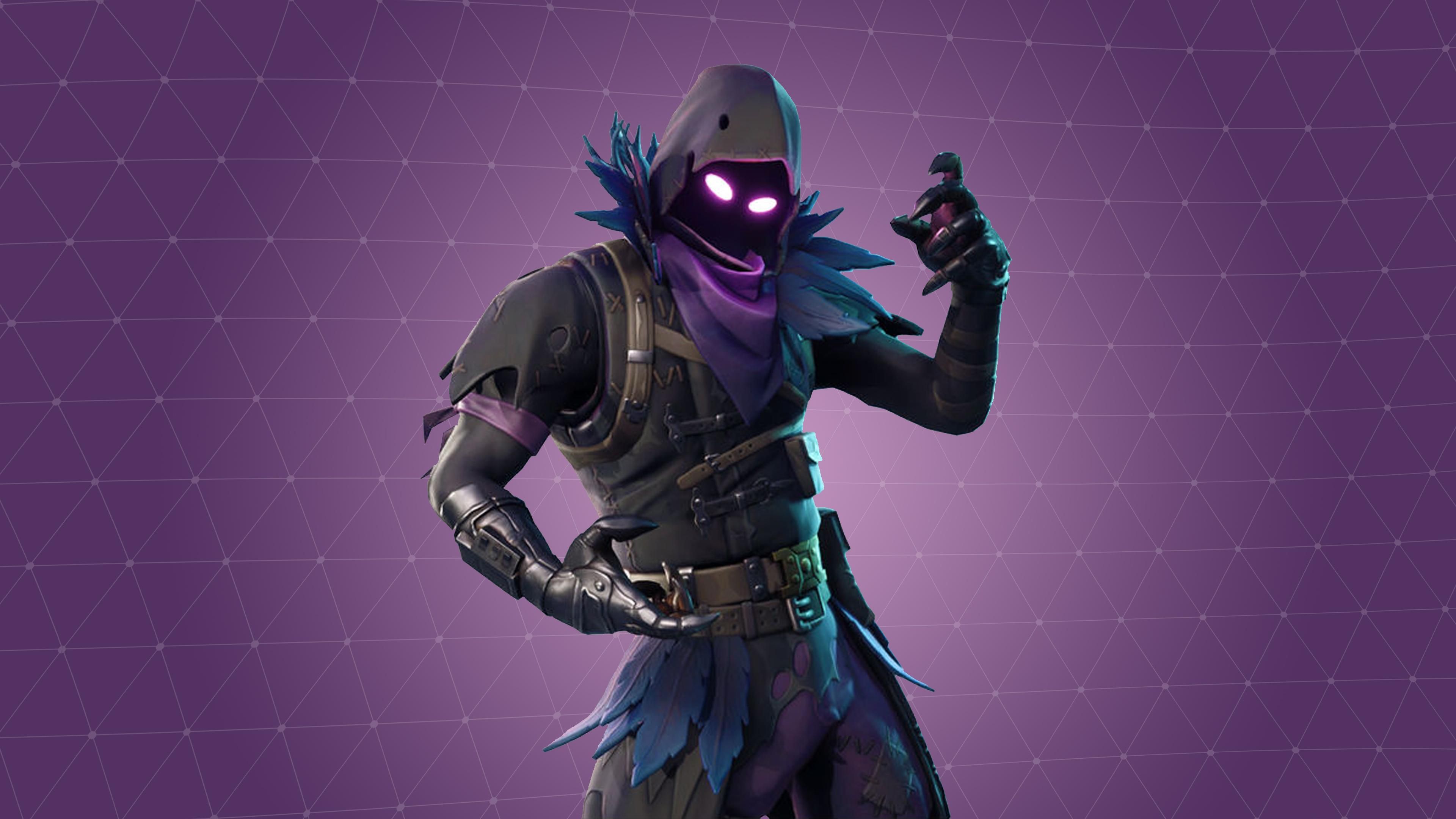 Fortnite Raven Skin Wallpaper Background 63808 3840x2160px 3840x2160