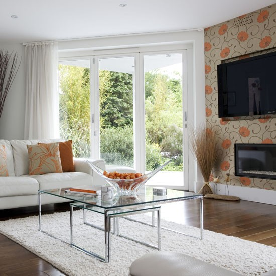 Feature Wall Wallpaper Ideas Living Room 550x550
