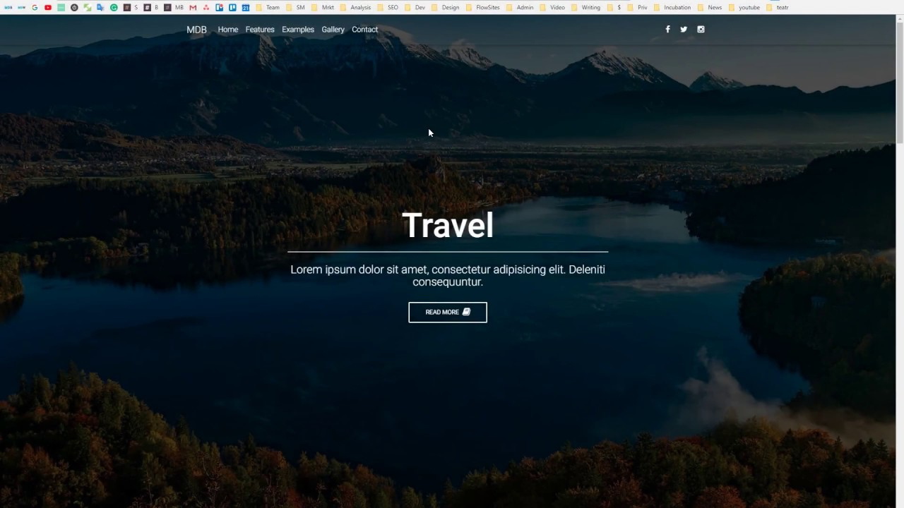 Bootstrap 4 Tutorial [4] Landing Page with full page background 1280x720