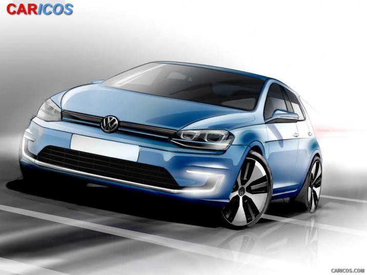 2015 Volkswagen e Golf   Design Sketch HD Wallpaper 60 1920x1080 716x537