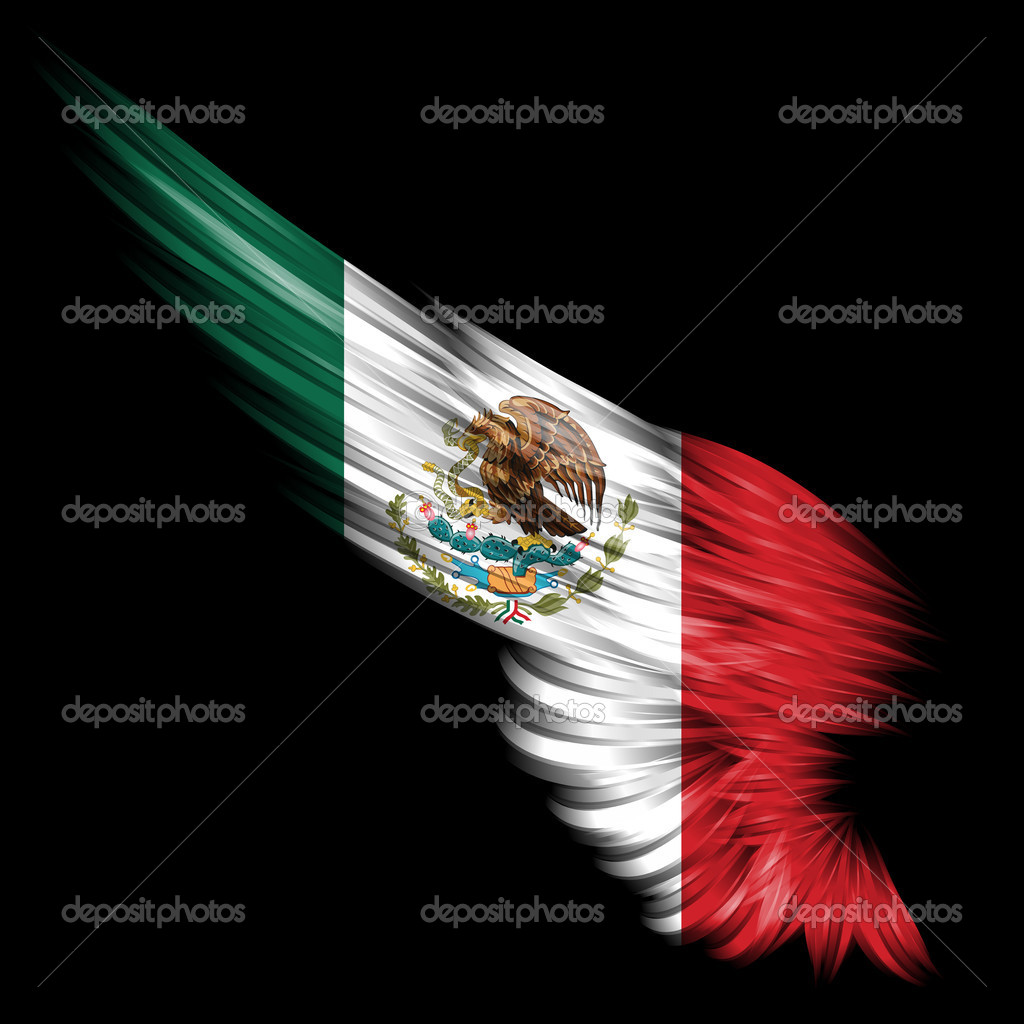 Cool Mexican Backgrounds Abstract wing with mexico flag 1024x1024