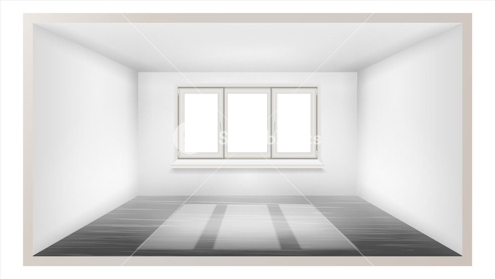 Empty Room Vector Empty Wall Sunlight Falling Down House 1000x563