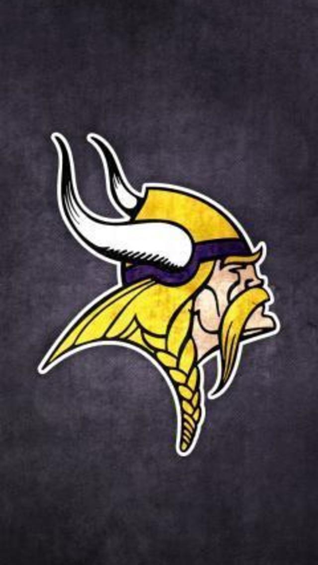 Minnesota Vikings Grungy Wallpaper for iPhone 5 640x1136