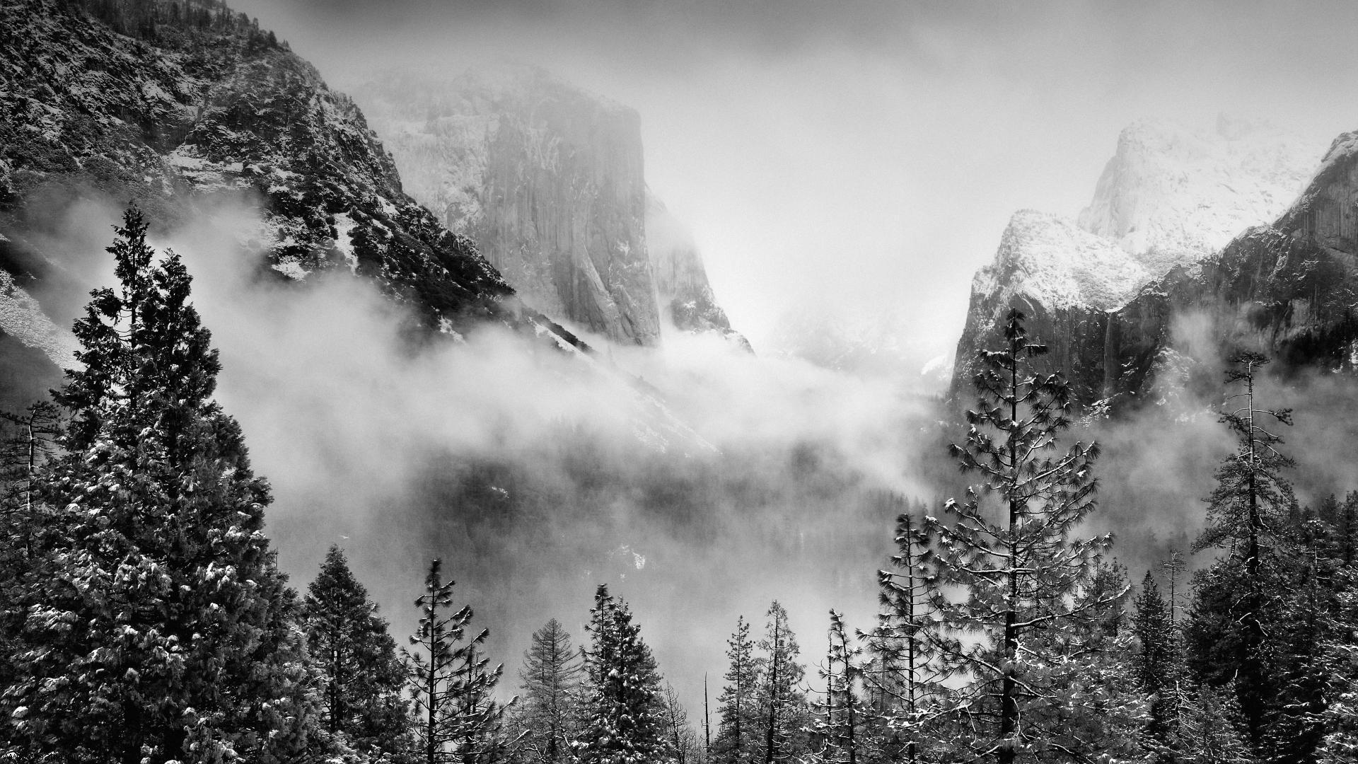 Early Winter Storm Yosemite National Park California HD Wallpaper 1920x1080