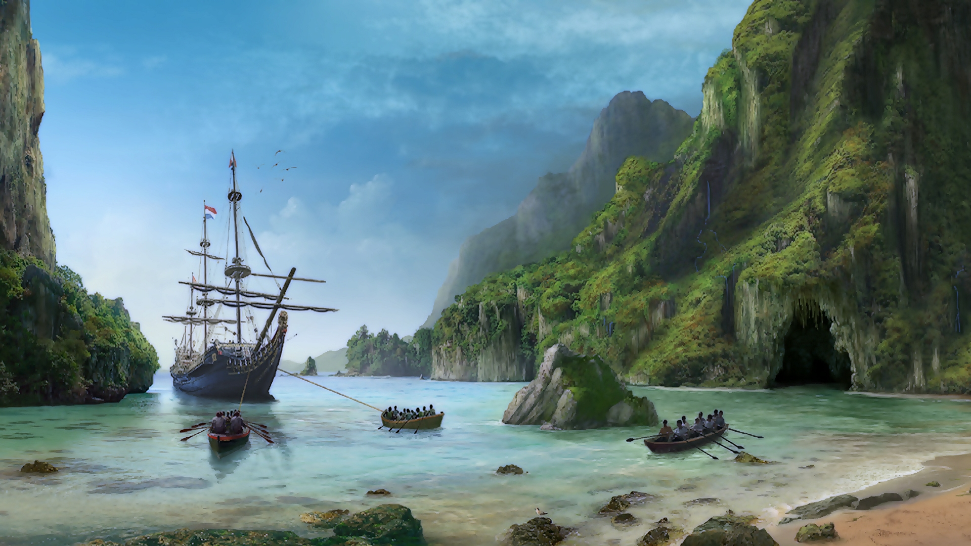 Pirate Ship Wallpaper Wallpapersafari HD Wallpapers Download Free Images Wallpaper [1000image.com]