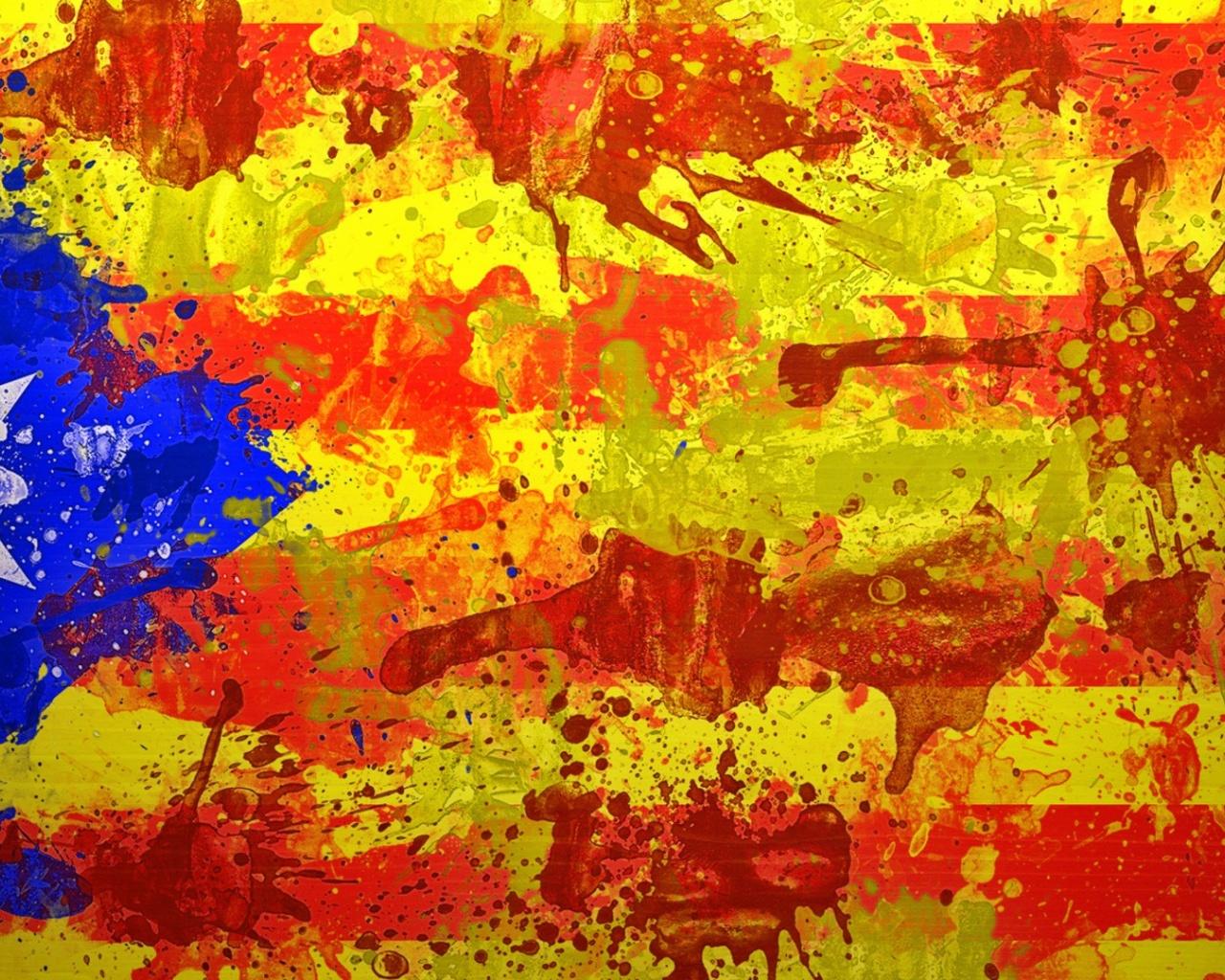 1280x1024 Catalan Flag desktop PC and Mac wallpaper 1280x1024