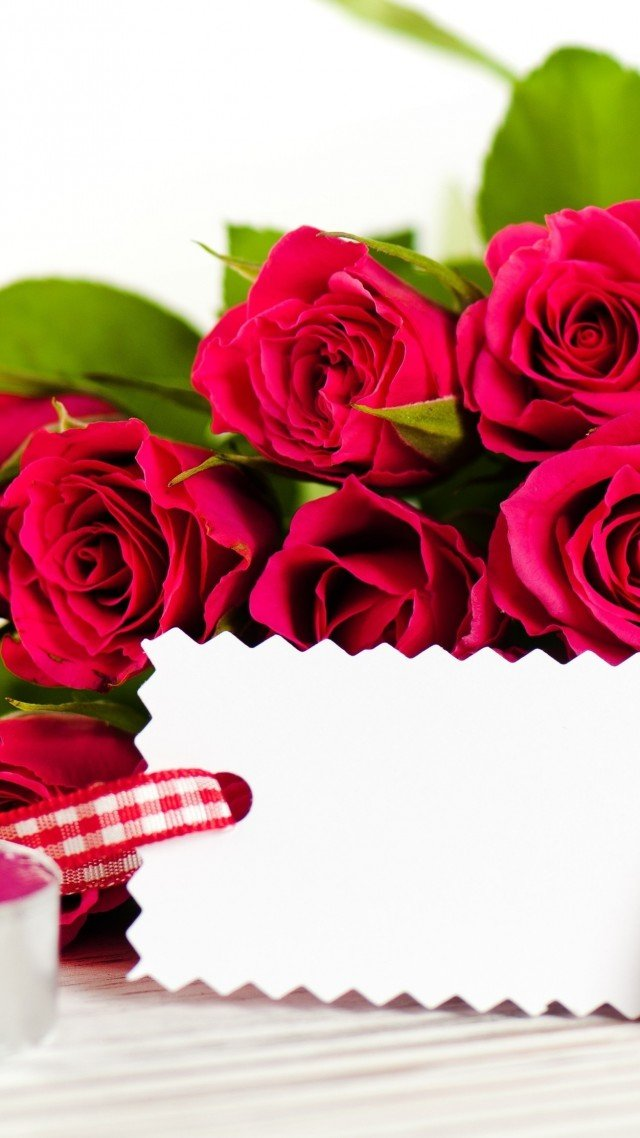 Wallpaper Valentines Day February 14 flowers roses cards 640x1138