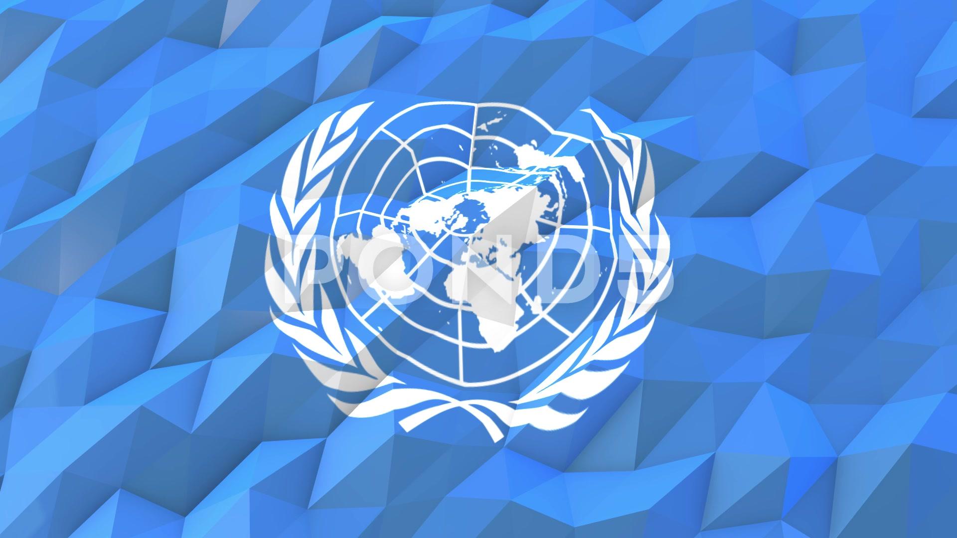 Flag of United Nations 3D Wallpaper Illustration Hi Res 66416526 1920x1080