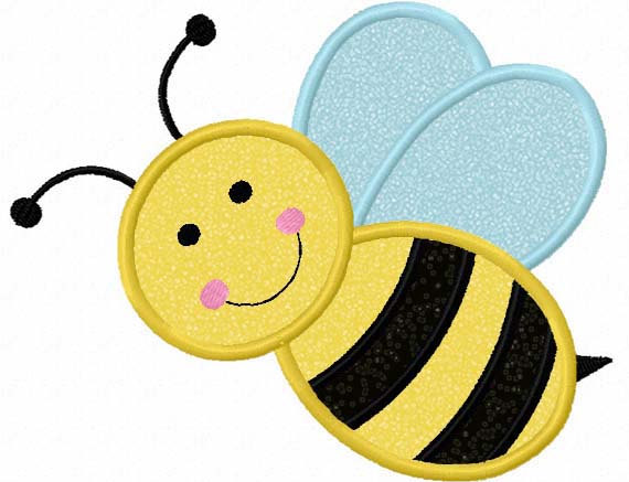 Instant Download Bumble bee Applique Machine Embroidery Design NO 1131 570x437