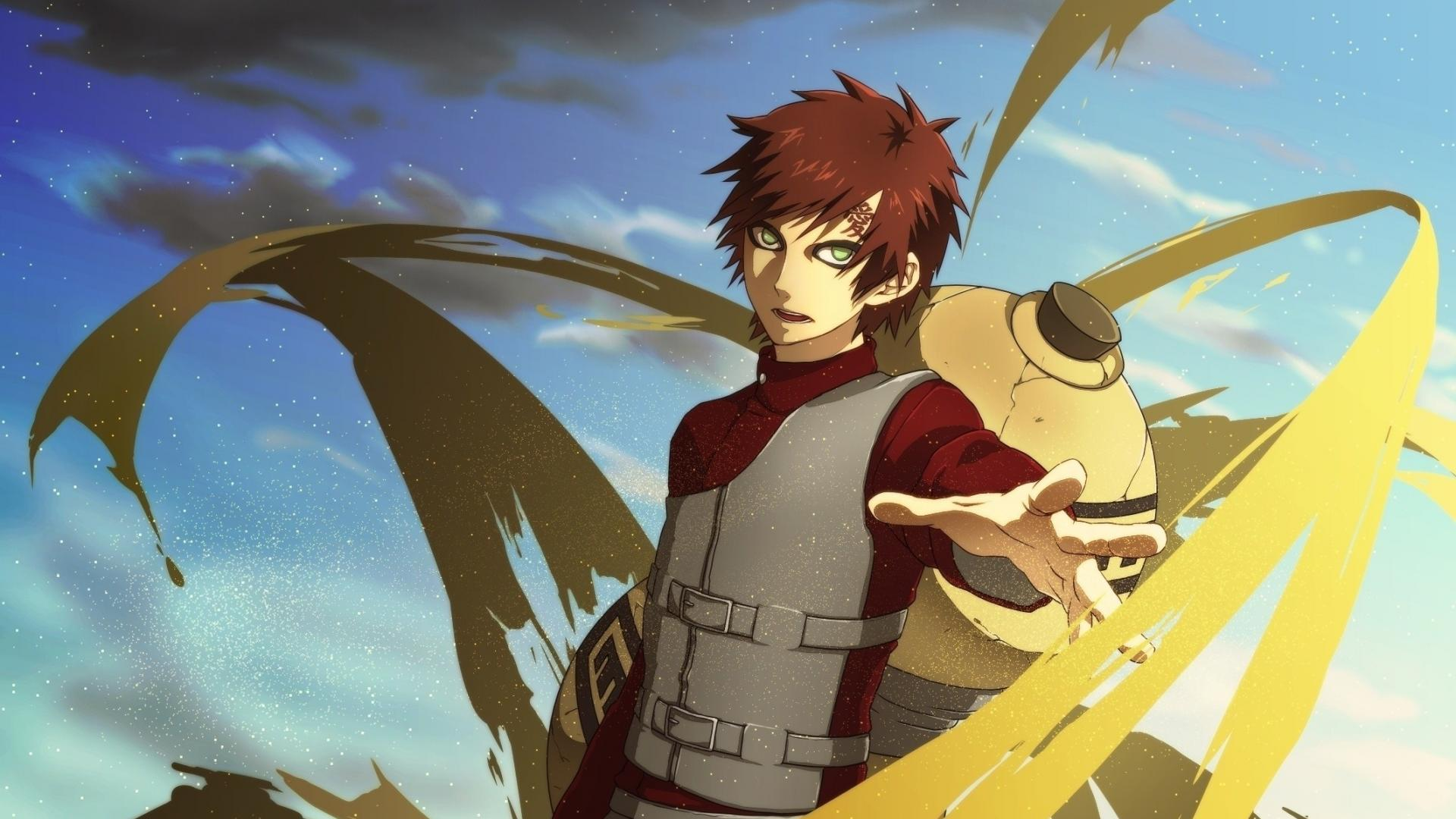 Sand naruto shippuden green eyes gaara wallpaper 39575 1920x1080