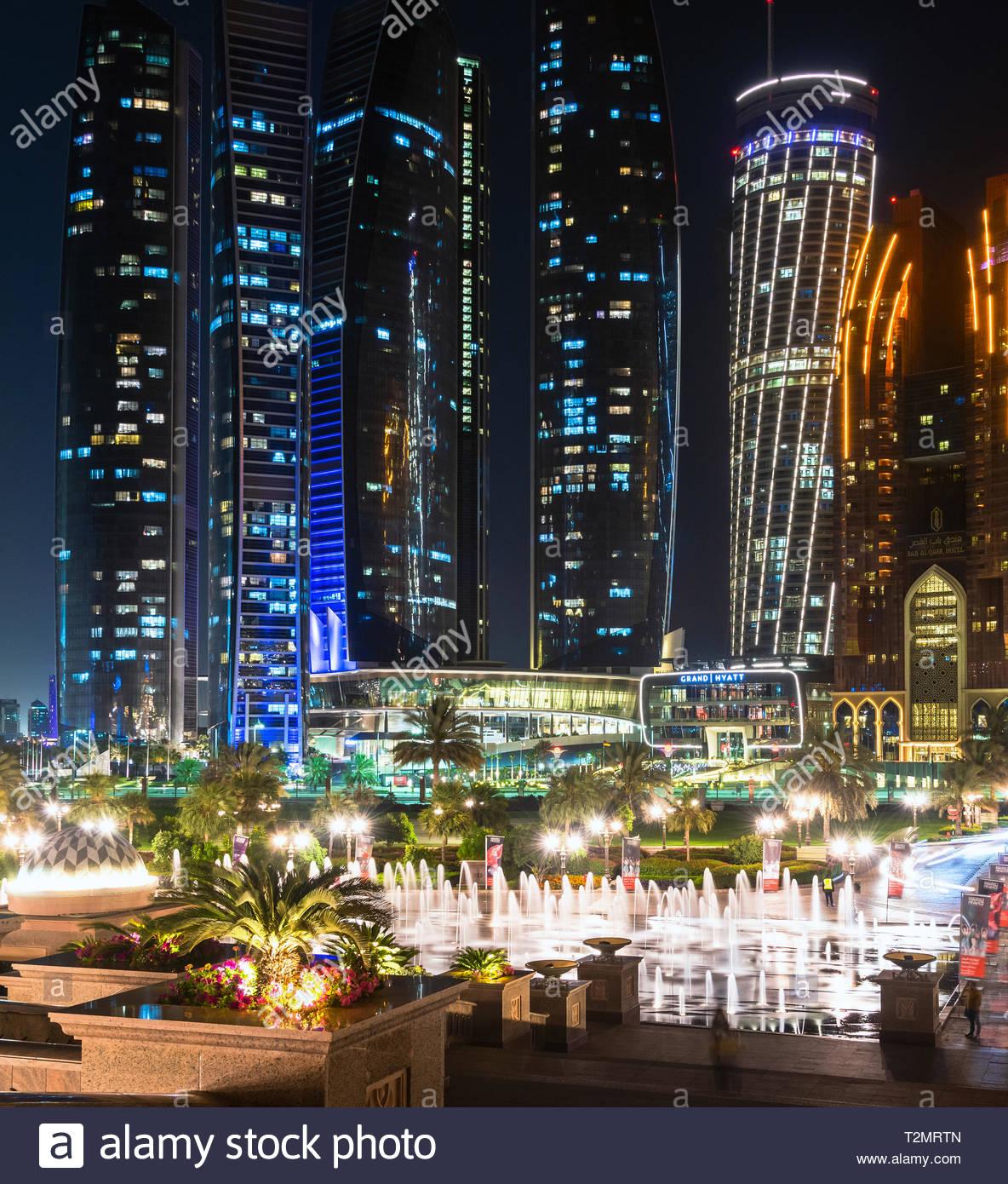 Abu Dhabi UAE   March 30 2019 Emirates Palace Fountain on 1184x1390