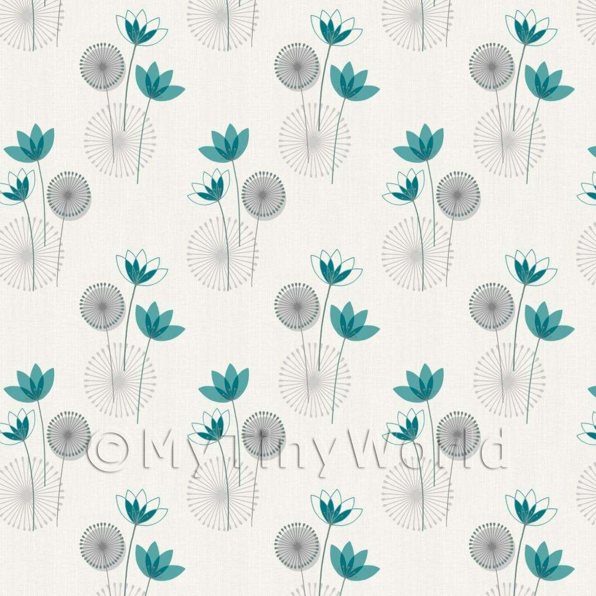 Teal Flower Wallpaper