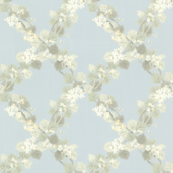 Delphia Blue Jasmine Trellis Wallpaper   Farmhouse   Wallpaper   by 600x600