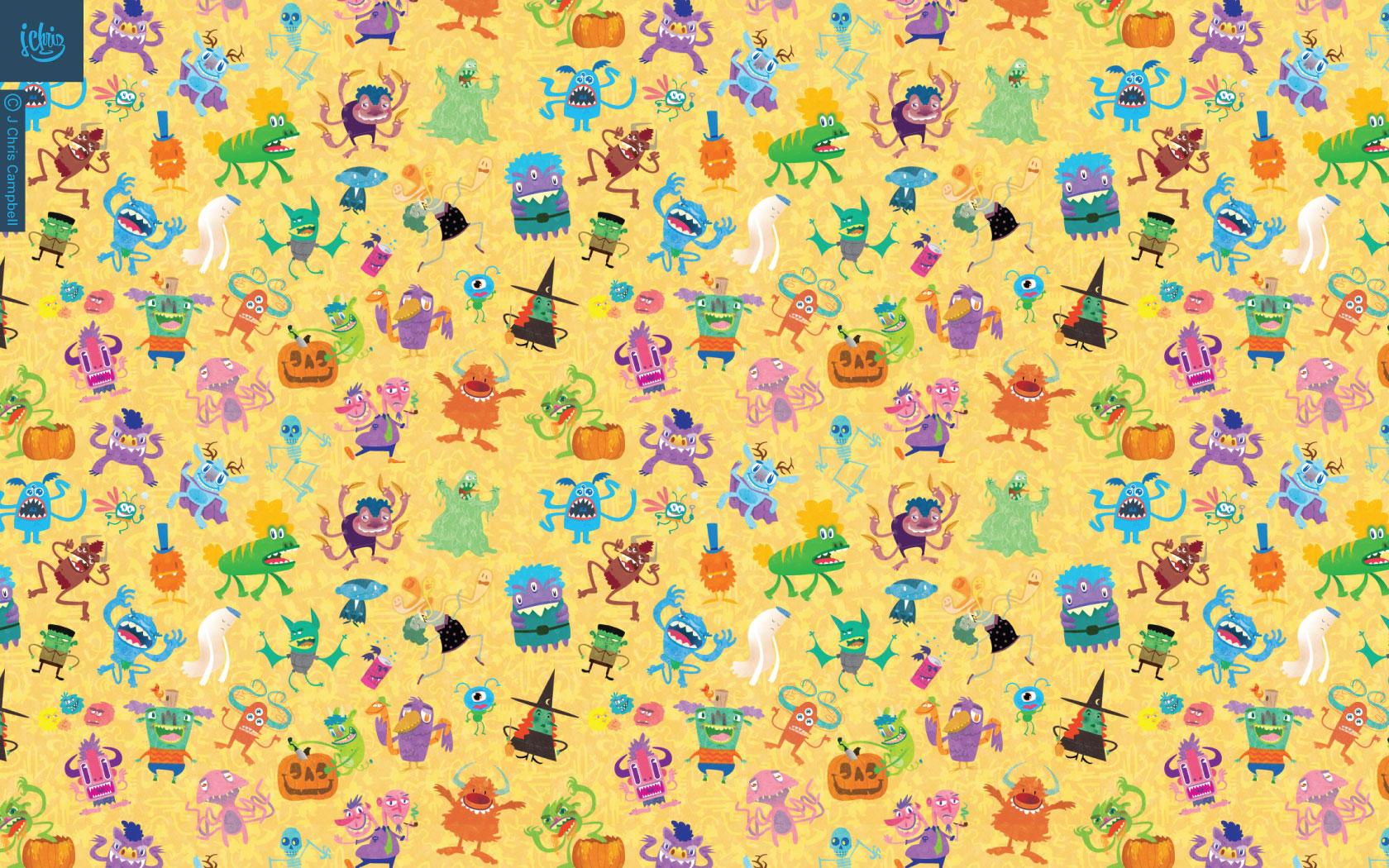 Indie Art Desktop Wallpaper Monster wallpapers and 1680x1050