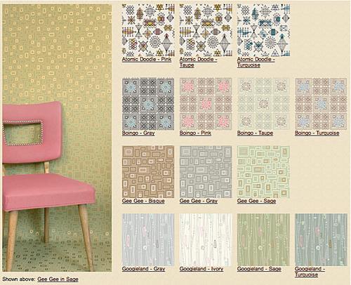 Mid Century Modern Wallpaper Patterns Charlotte Atomic 500x406