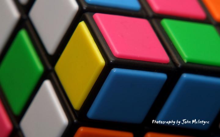 Rubiks Cube Macro Wallpaper by stphq 720x450