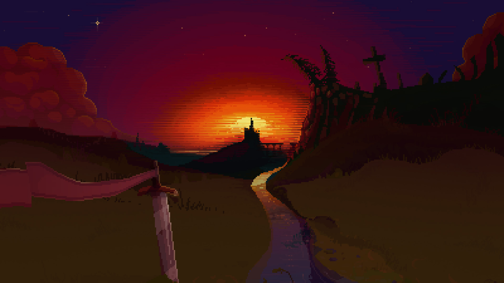 Pixel sunset Wallpaper from Hammerwatch gamepressurecom 1920x1080