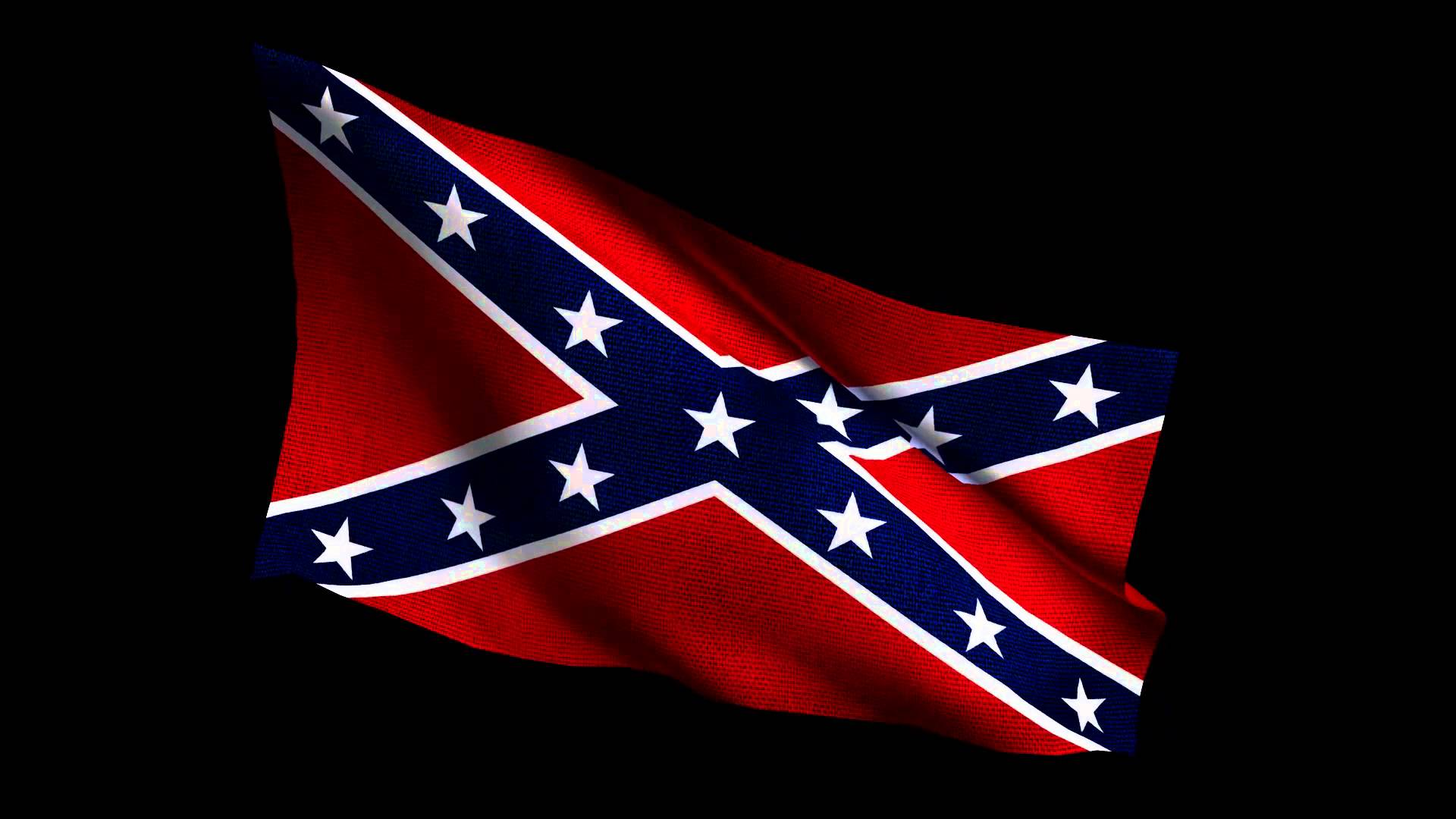 Confederate Flag waving 1920x1080p 1920x1080