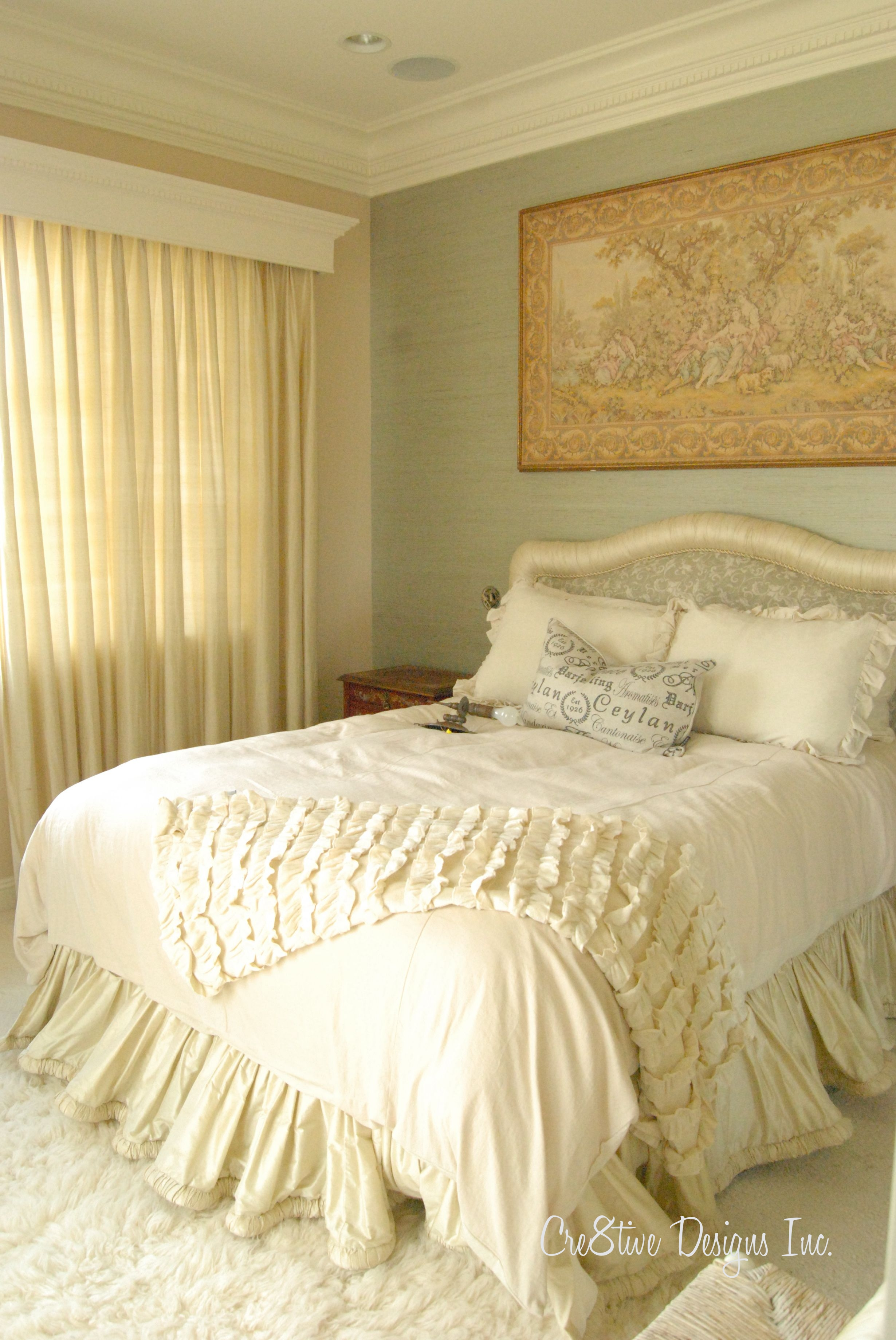 pretty bed grasscloth wallpaper Bedroom Decor Ideas Pinterest 2460x3678