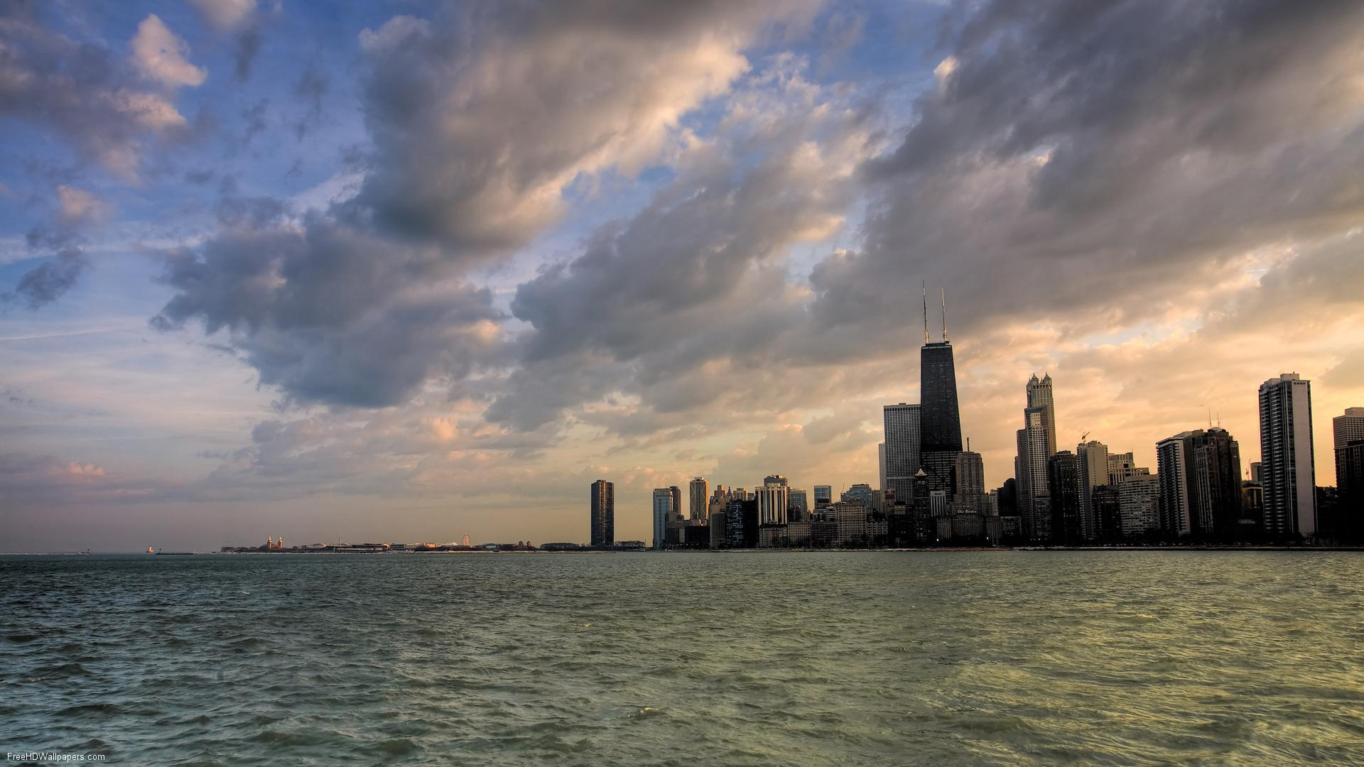 Chicago Skyline Backgrounds 1920x1080