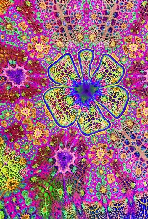 American Hippie Psychedelic Art Pattern Design Wallpaper ACID TRIP 500x738