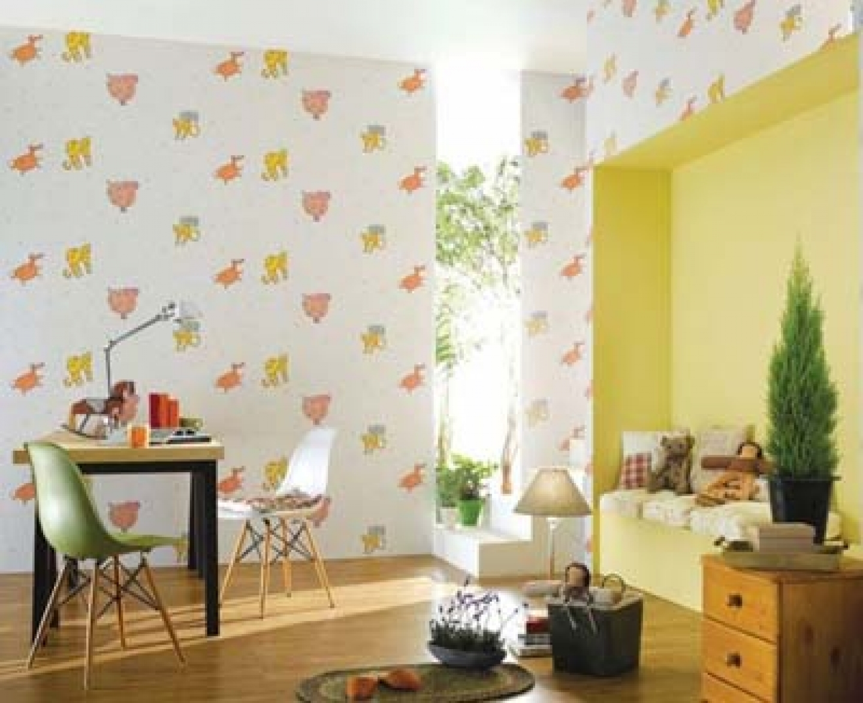 Animal themed bedroom wallpaper kids bedroom 1440x1173