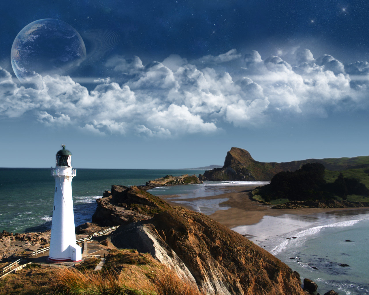 Beacon Located on a Coast Wallpapers   HD Wallpapers 24617 1280x1024