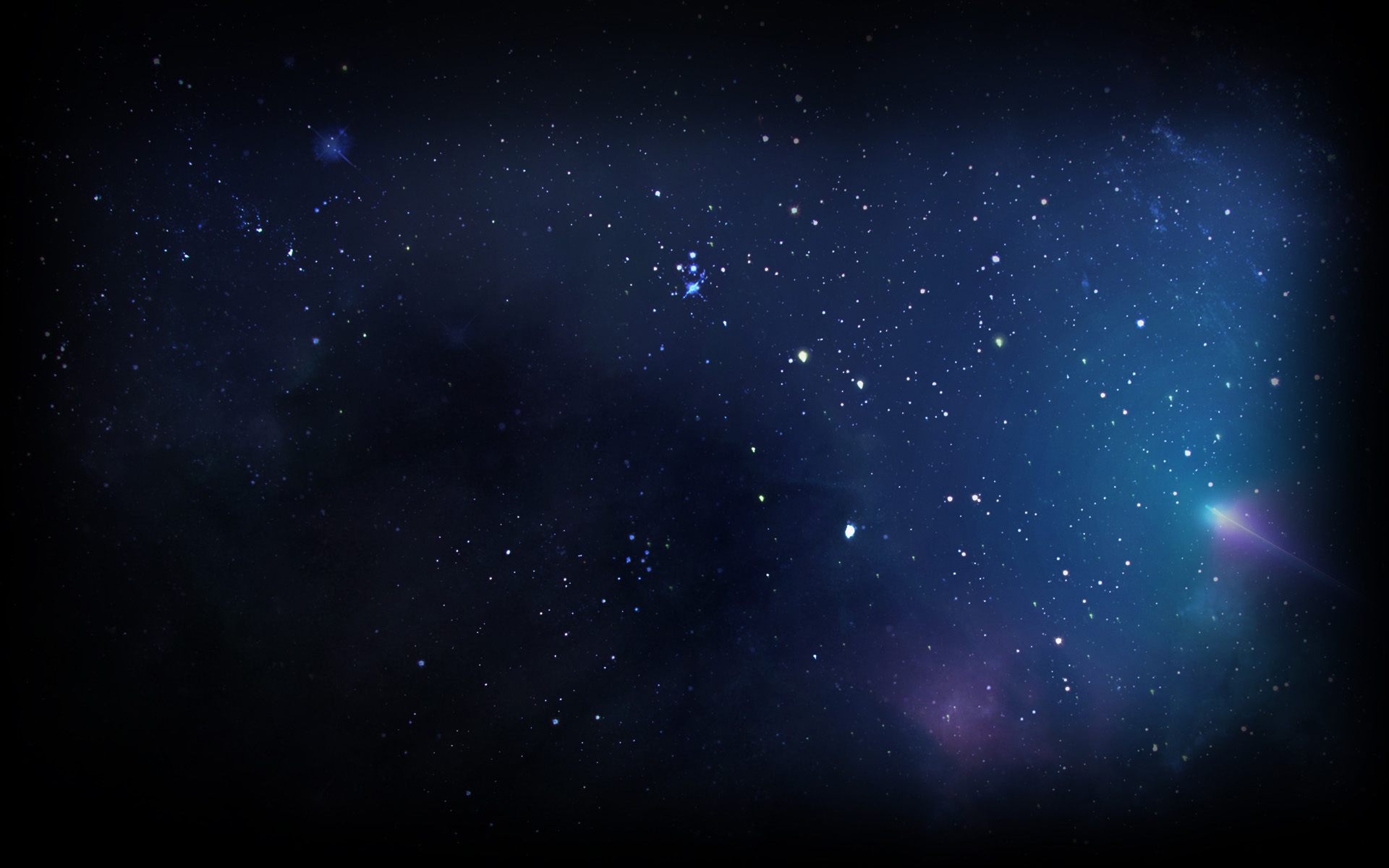 Blue Space Backgrounds 1920x1200