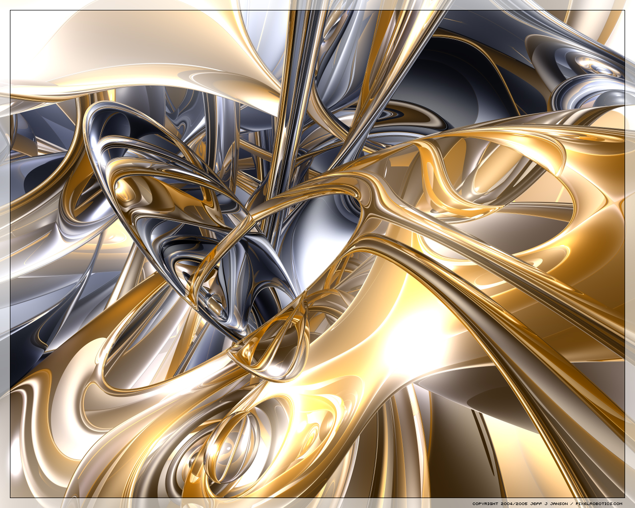 Gold silver wallpaper