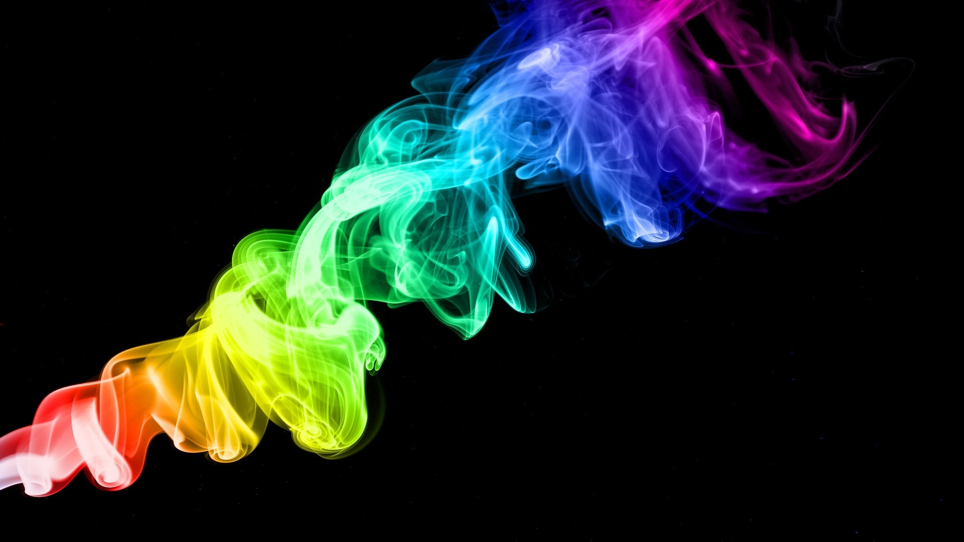 Smoke Colors Rainbow Wallpaper HD Wallpaper 1920x1080