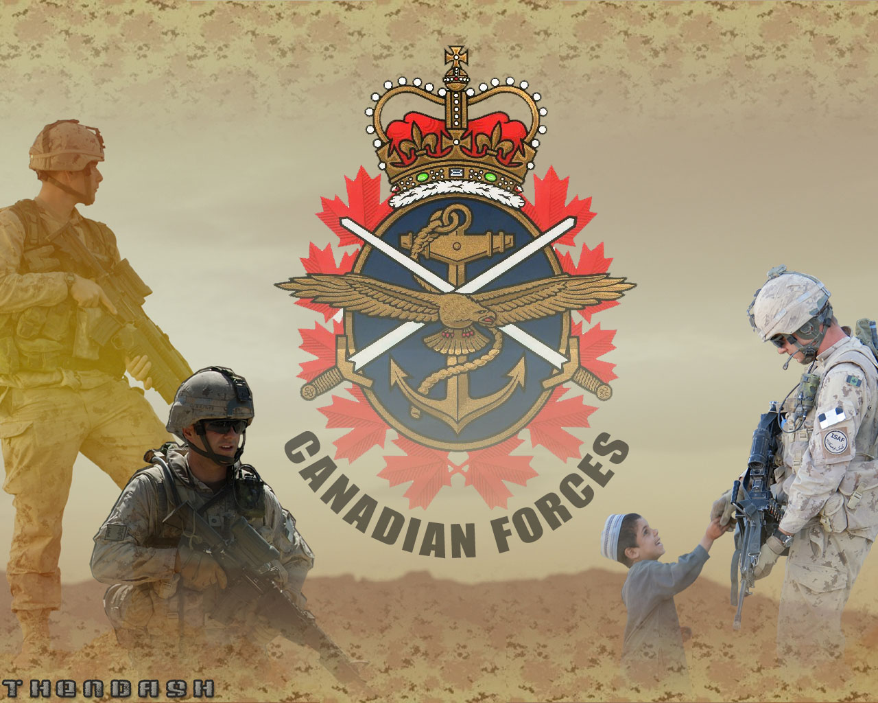 Canadian Forces Wallpaper Sand by Thendashjpg 1280x1024