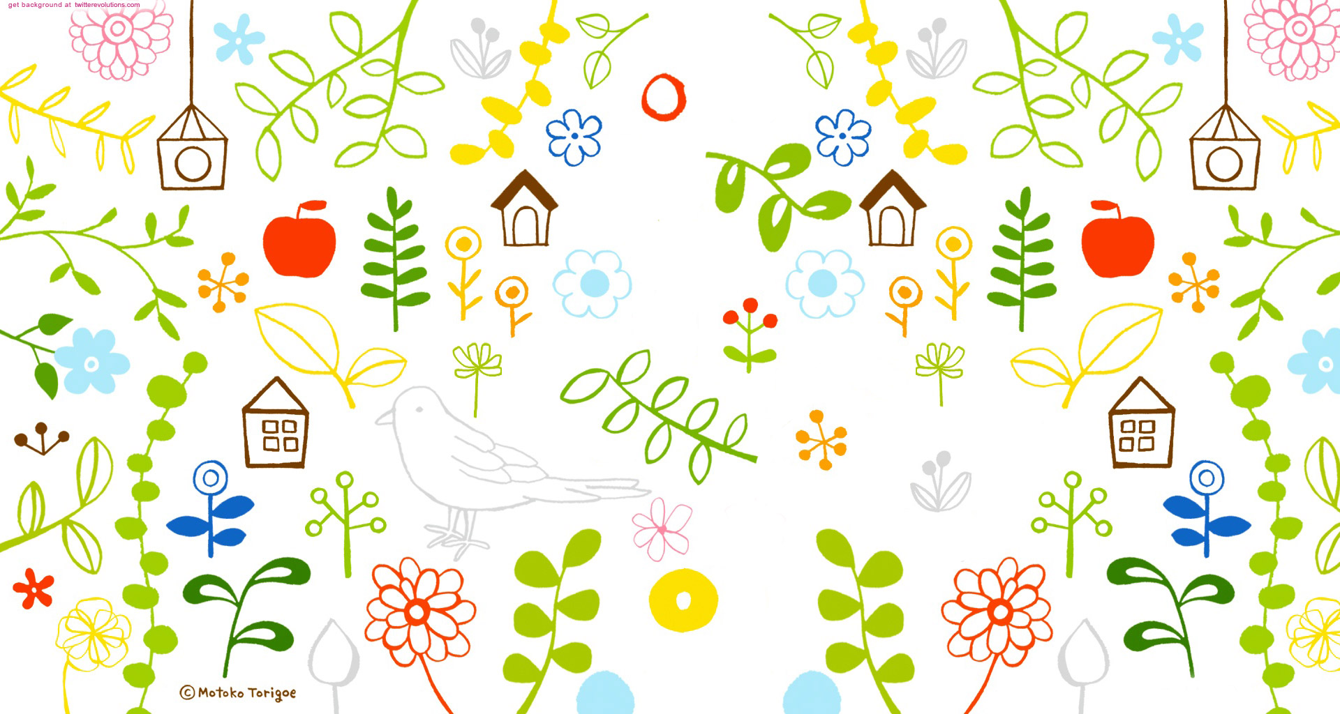 Cute girly pattern Twitter background   Twitterevolutions 1920x1024