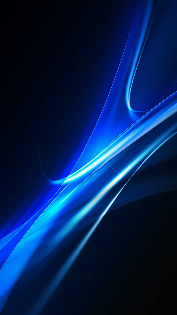 Download Blue Curves abstract iPhone 6 Wallpaper HD iPhone 6 750x1334
