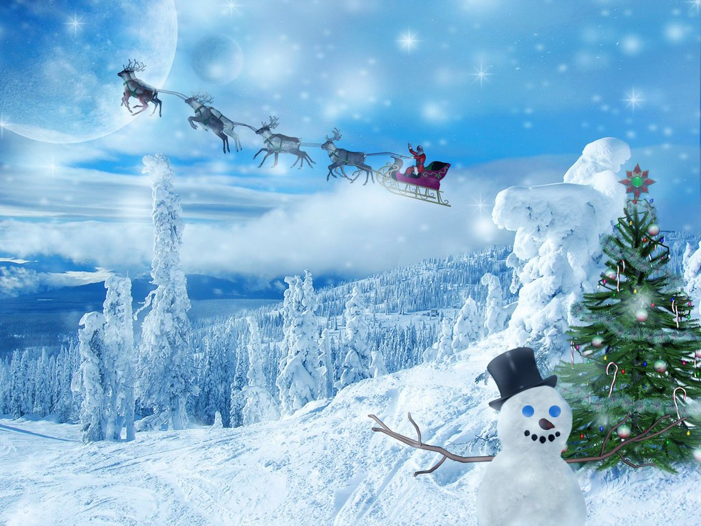 free desktop christmas wallpaper 1024x768