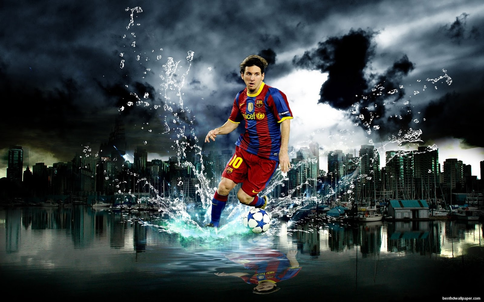 wallpapers photo photos Lionel Messi Desktop Wallpaper 2012 Full HD 1600x1000