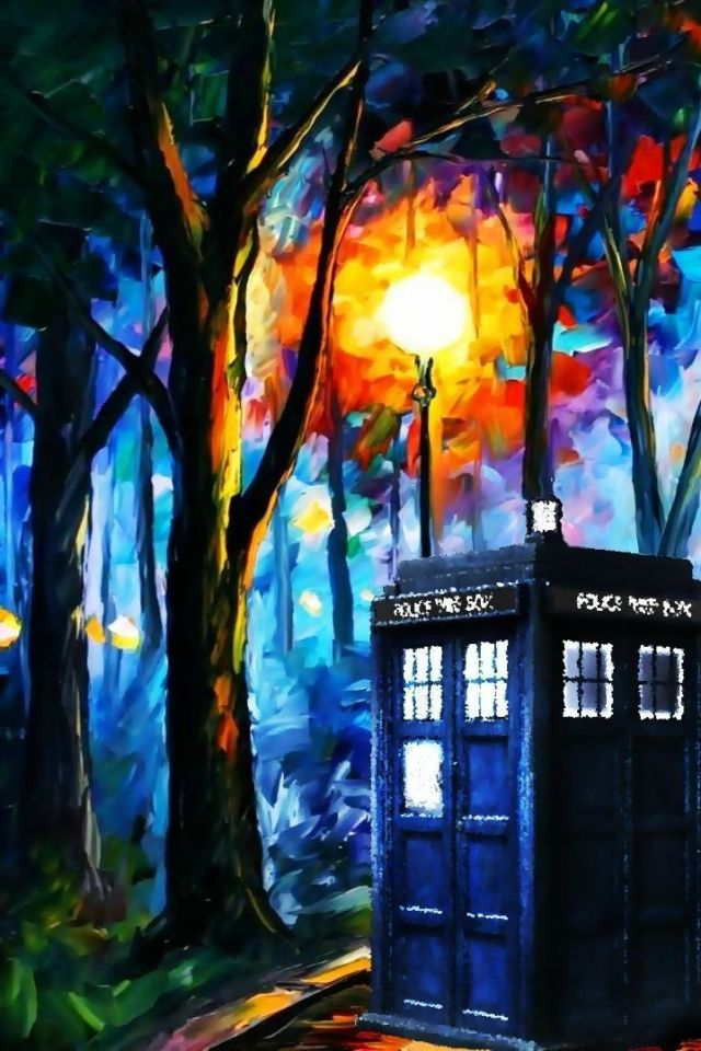 tardis leonid afremov doctor who 1915x1079 wallpaper Art HD Wallpaper 640x960