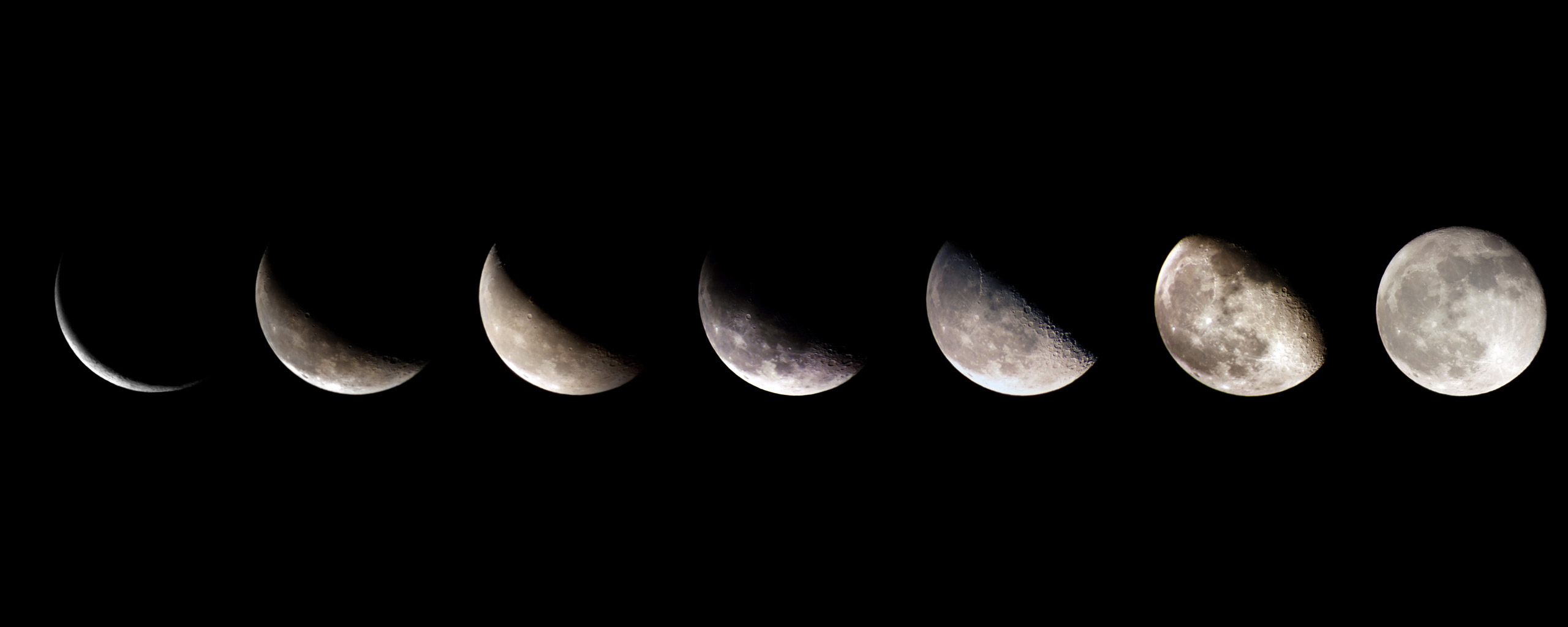 Perfect for astrologists this dual desktop wallpaper shows the lunar 2560x1024