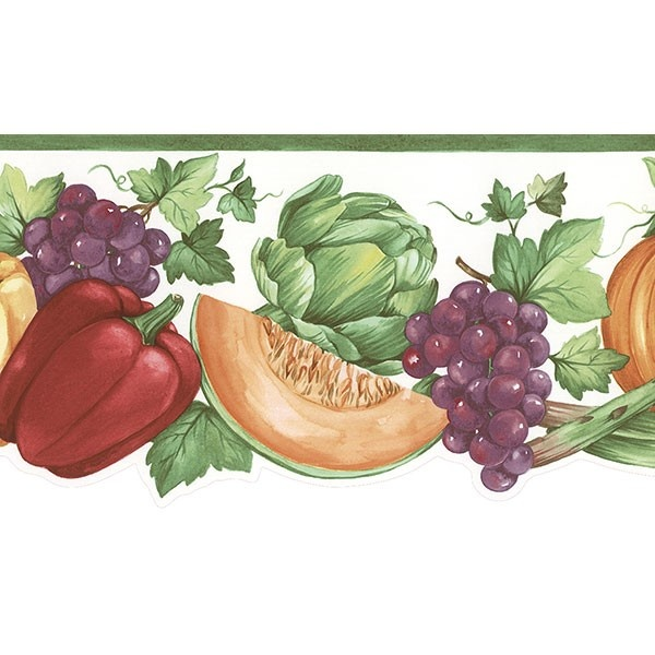 Fruit Vegetables Border Kitchen Wallpaper Pinterest 600x600