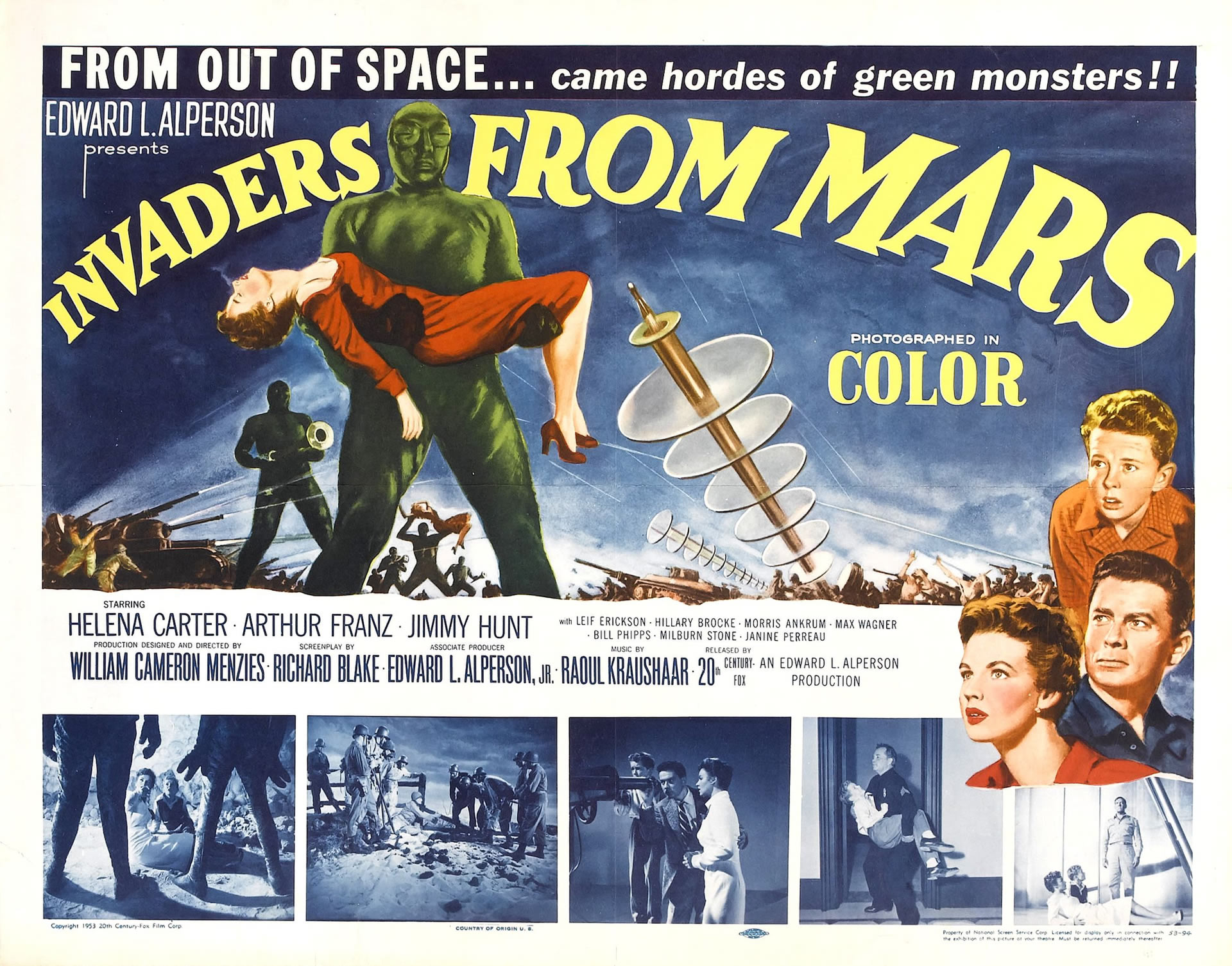Invaders From Mars Iii   Alien Invasion B Movie Posters 1920x1506