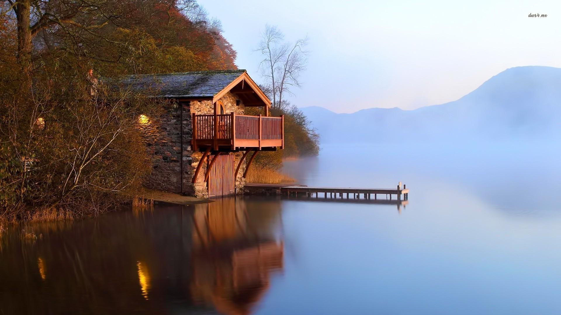 Lake House Wallpaper Wallpapersafari