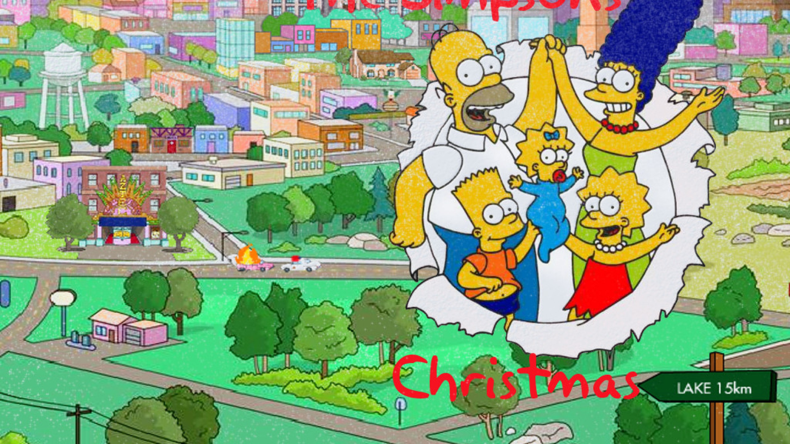 Wallpaper, Christmas, Simpsons - 1607719
