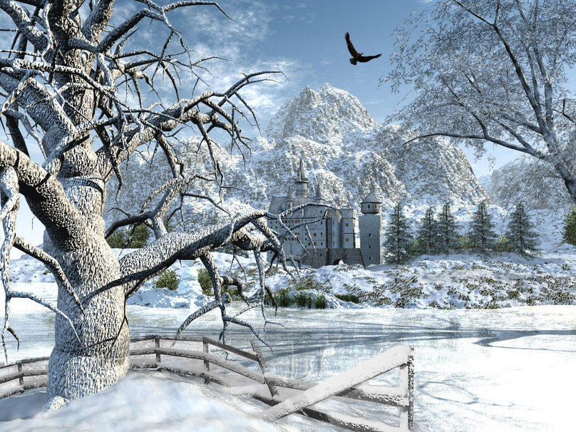 Beautiful snow scenes wallpaper wallpapersafari Beautiful snowfall pictures