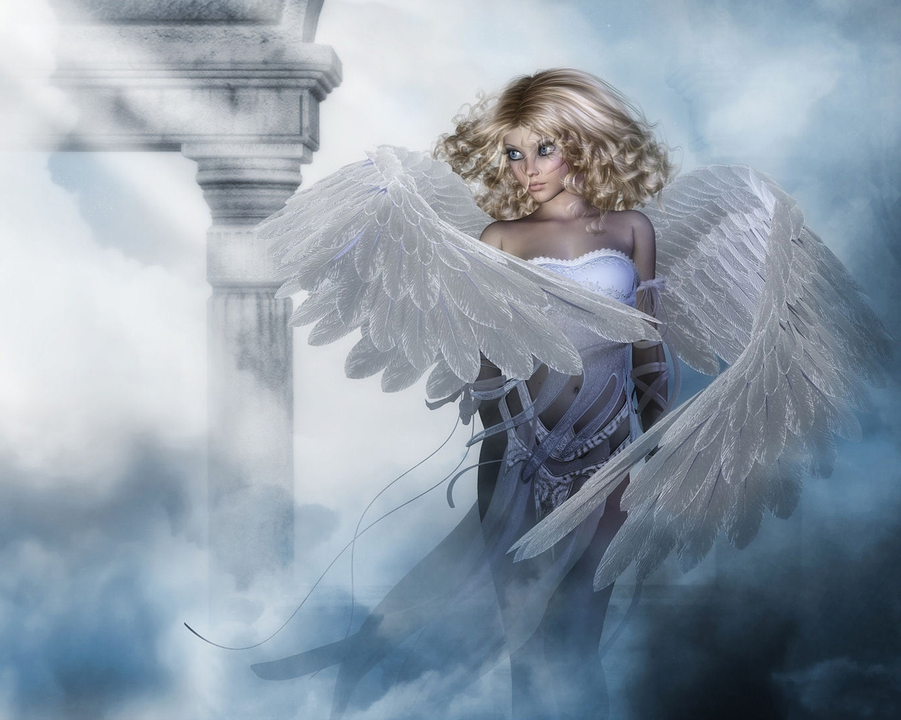 Beautiful Angels Wallpapers Beautiful angel in h 1280x1024