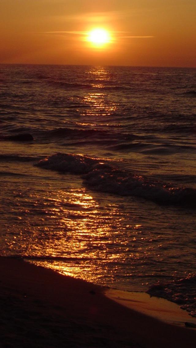 ocean beach sunset hd iphone 5 wallpapers 5 download ocean beach 640x1136