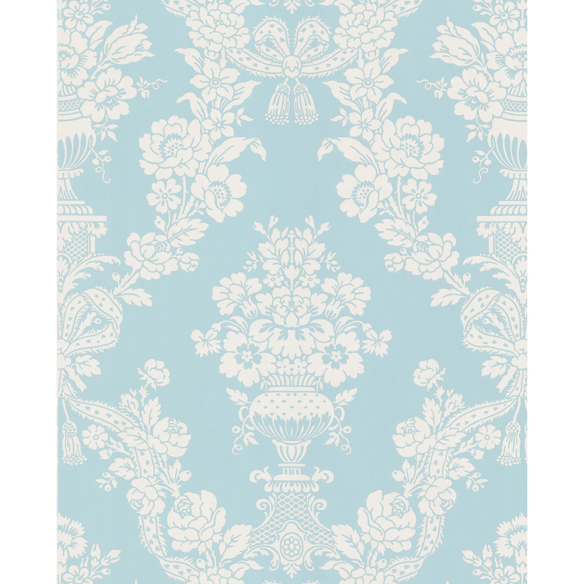 Free Download Light Blue Floral Wallpaper Brewster Aqua Floral
