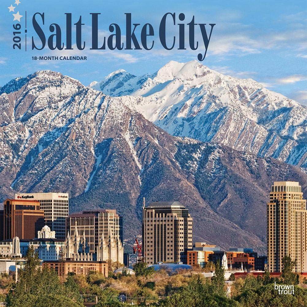 Salt Lake City Wall Calendar by BrownTrout 1001x1001