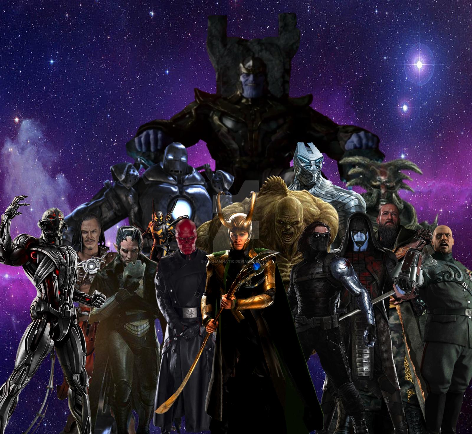 Marvel Cinematic Universe villains by ArkhamNatic on 1600x1472