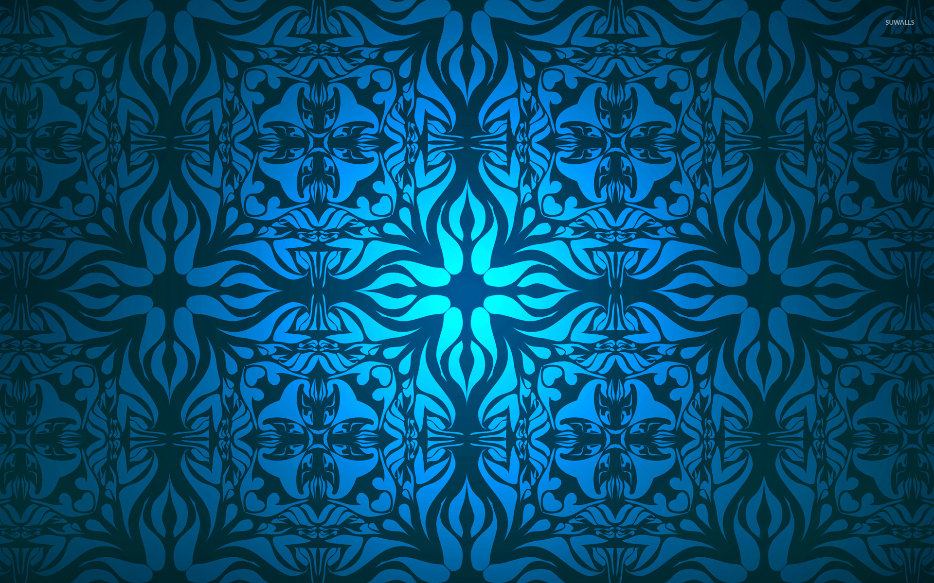 Vintage blue pattern wallpaper   Abstract wallpapers   17550 1280x800